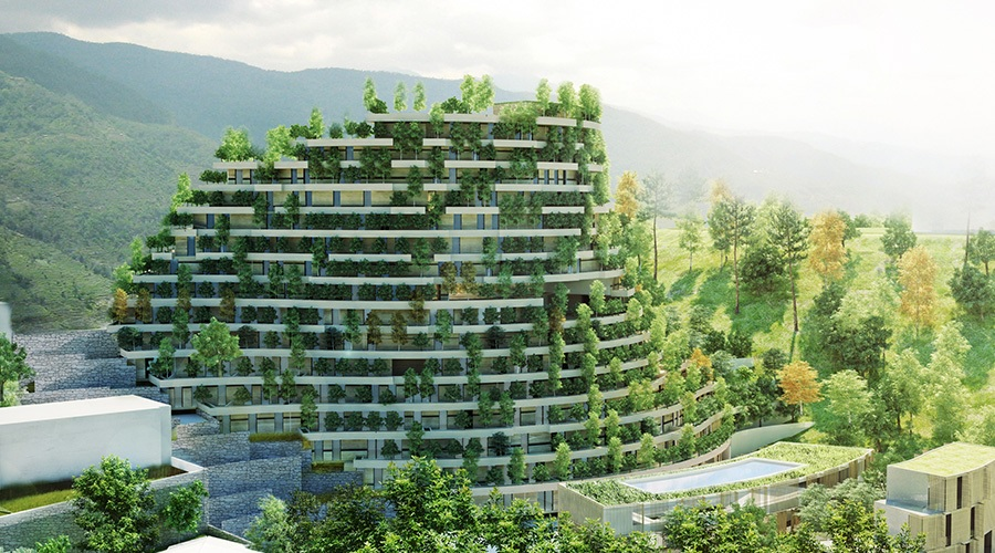 Vertical Forest Resort To Be Built In China By Cachet