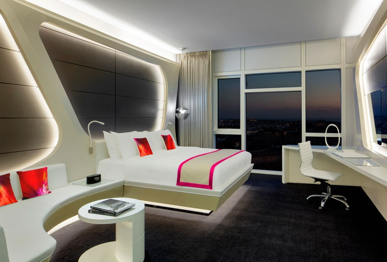 Silverfox studios 39 work on show at w hotel dubai hotel for W hotel bedroom designs