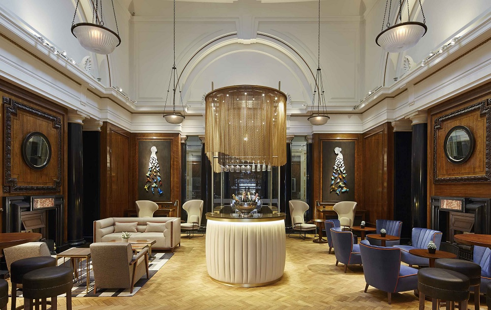 Noes Lobby Champagne Bar - London Marriott County Hall by RPW Design