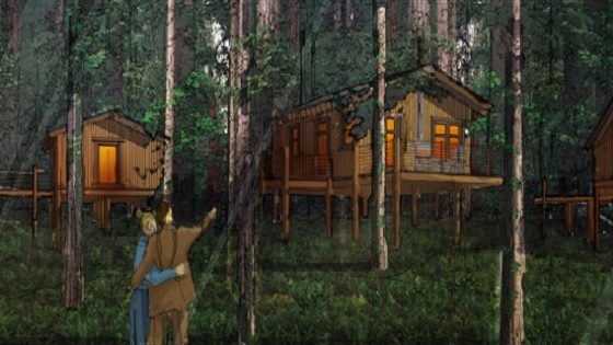 Two new tree houses of Skamania Lodge