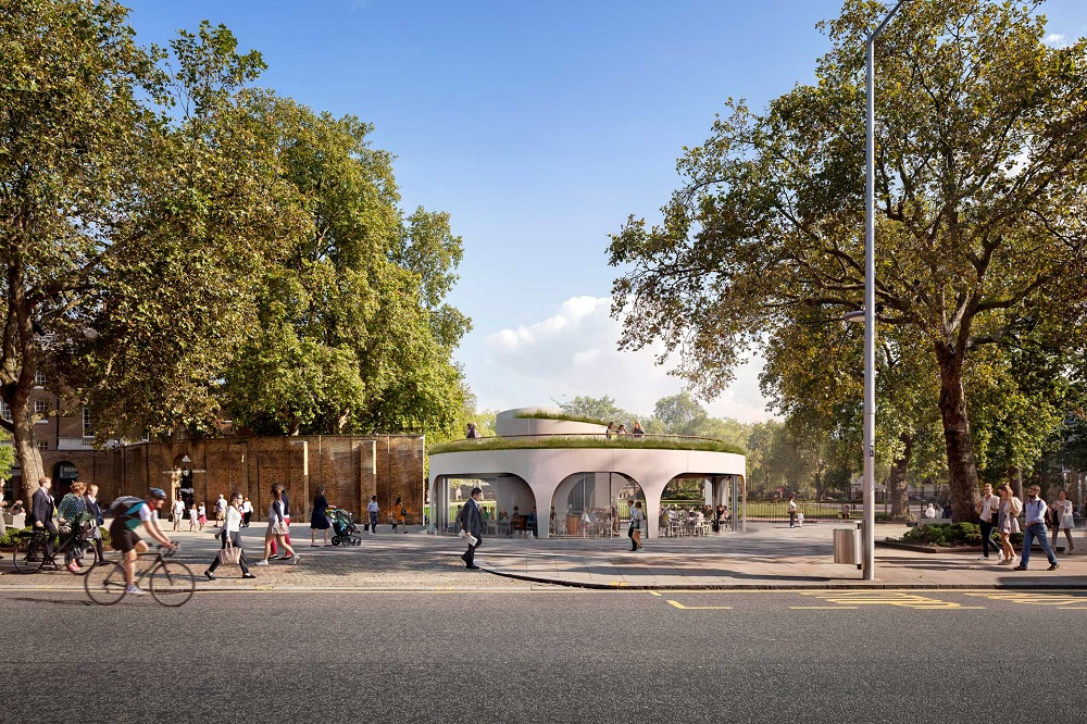The state-of-the-art Cadogan Café will be located in the largely Grade II-listed Duke of York Square, adjacent to the main thoroughfare to the Saatchi Gallery and set slightly back from the King's Road. It has just commenced construction, and will complete in late 2018.