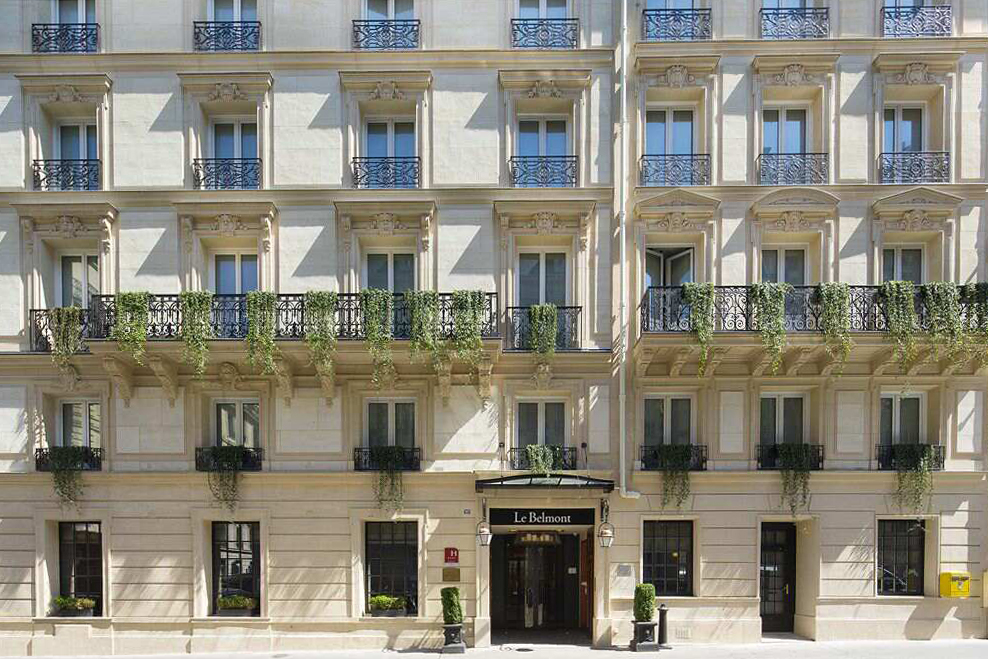 Le belmont paris hotel designs for Hotel design paris 6