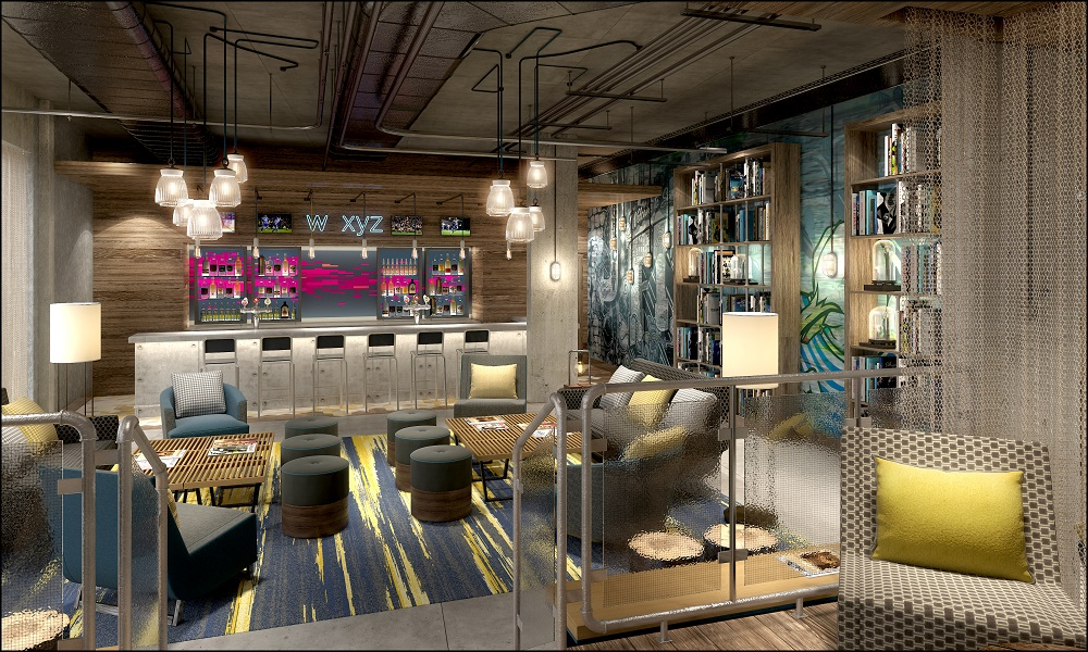 Starwood - Aloft's W XYZ bar concept as rendered by an artist