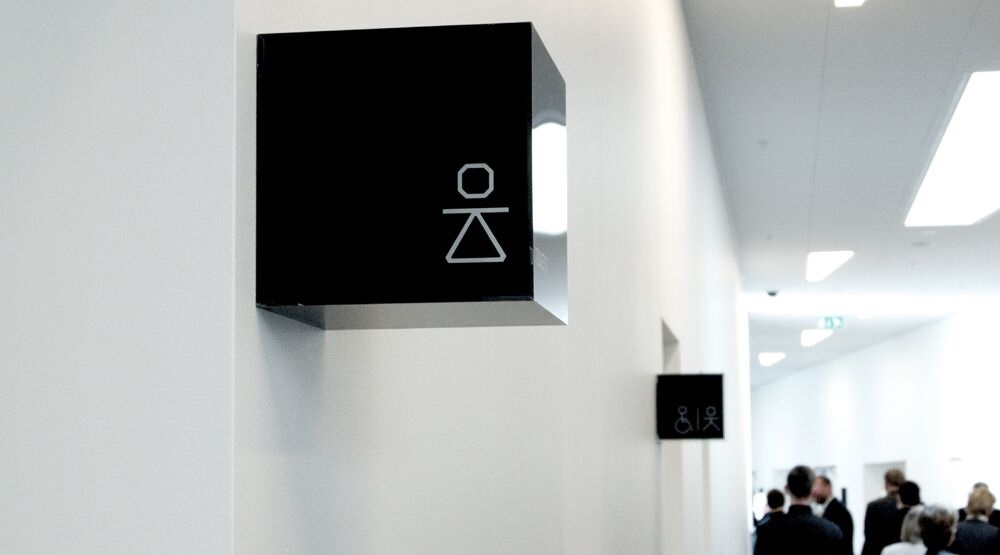 interior signage for bella sky copenhagen with identity
