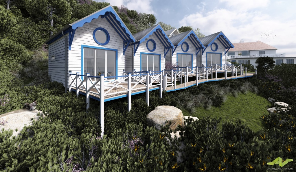 Cary Arms - New Beach Huts