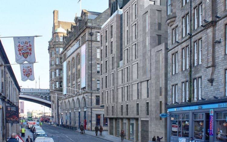 Work begins on new boutique hotel in edinburgh 39 s old town for Design hotel edinburgh
