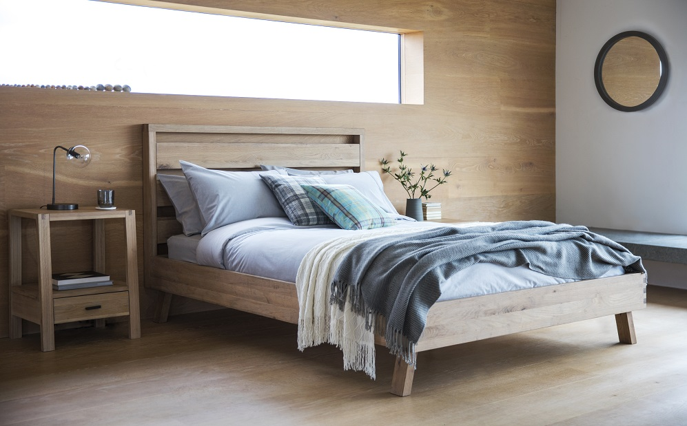 Kielder Bed and Bedside Table - Gallery Direct