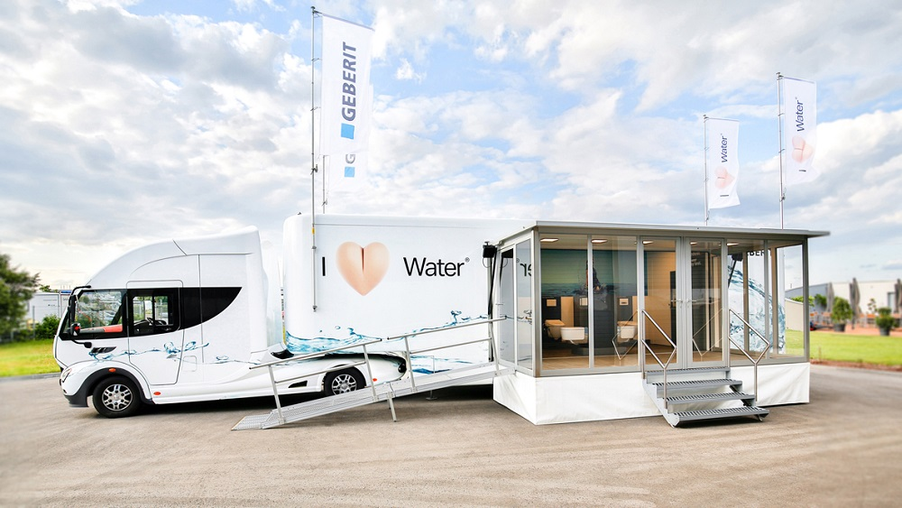 Geberit AquaClean truck showroom - LR