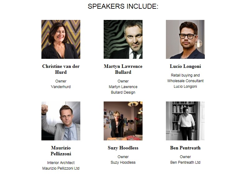 Speakers at Decorex International 2016