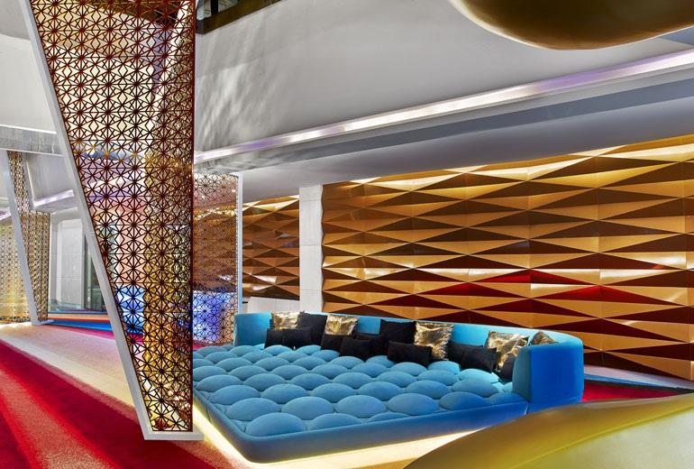 Silverfox studios 39 work on show at w hotel dubai hotel for Dubai hotel design