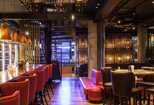 Sneak peek restaurant design at w hotel london hotel for Hotel design canaries