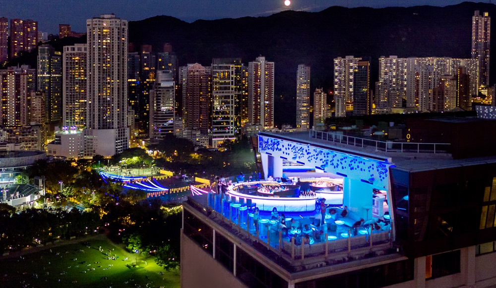 SKYE rooftop bar, Park Lane Hong Kong