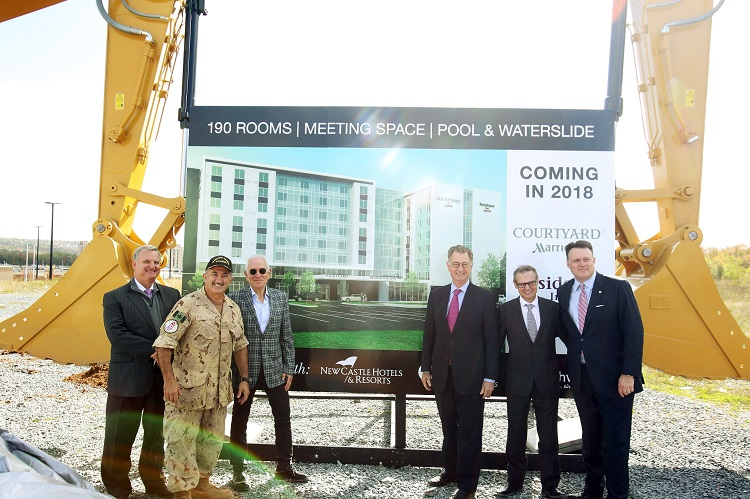 Marriotts ground-breaking in Dartmouth, Nova Scotia