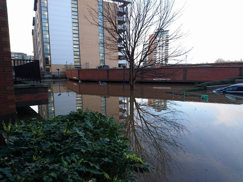 Crowne Plaza flooding - Leeds - up for Catey Award