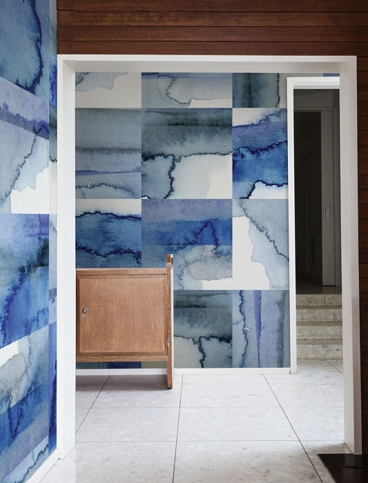 Watercolour wallcoverings