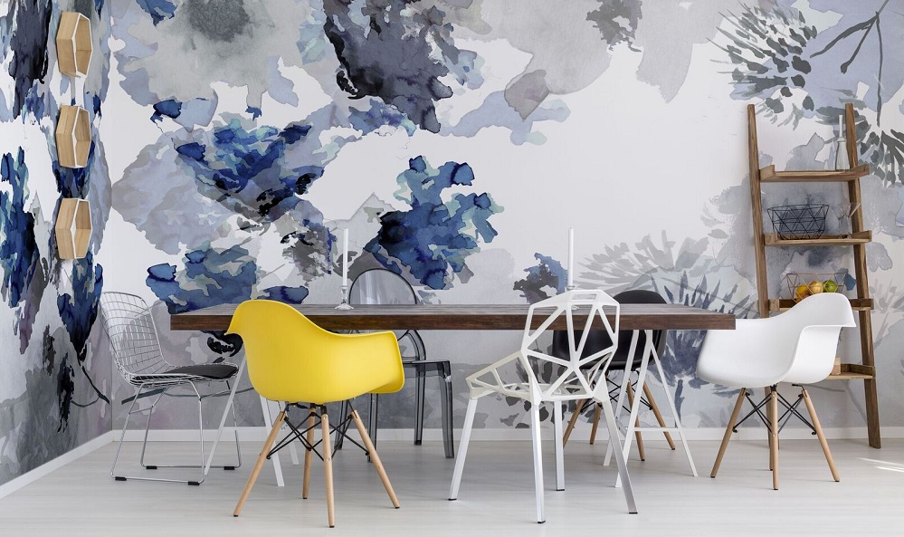 Watercolour wallcoverings