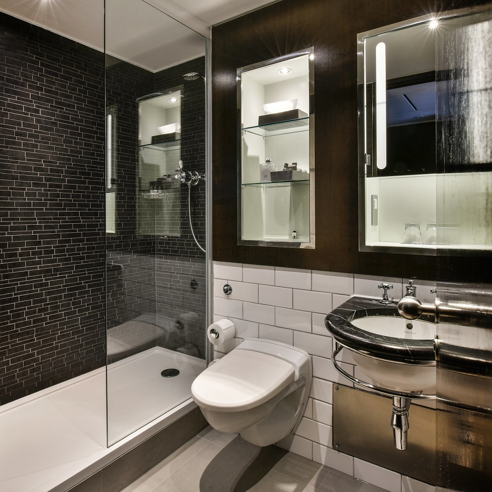 Andaz Hotel bathroom featuring Versital bespoke shower-tray