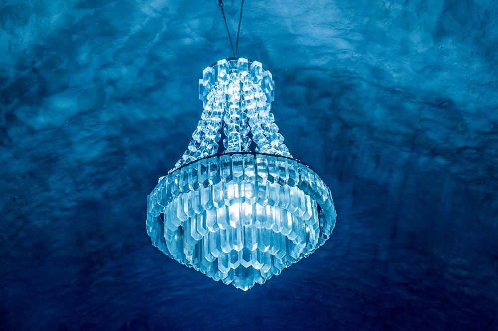Ice chandelier