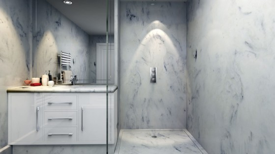 Versital faux marble shower