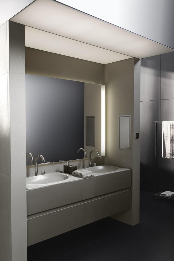 bathroom lighting solutions. Rocau0027s Innovative Smartlight Can Be Installed Above Any Wall Mounted Mirror And Adjusted By A Small Remote Control With Three Different Brightness Bathroom Lighting Solutions O