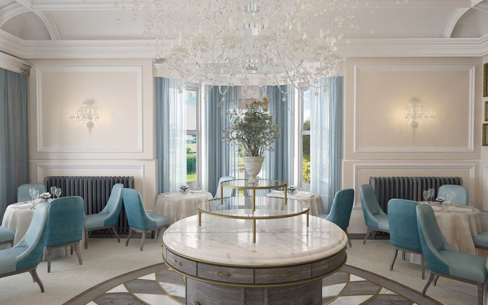 Opening on the 3rd April as a luxury country house hotel for the 21st century, the Grade II listed Georgian mansion Lympstone Manor has been restored and renovated