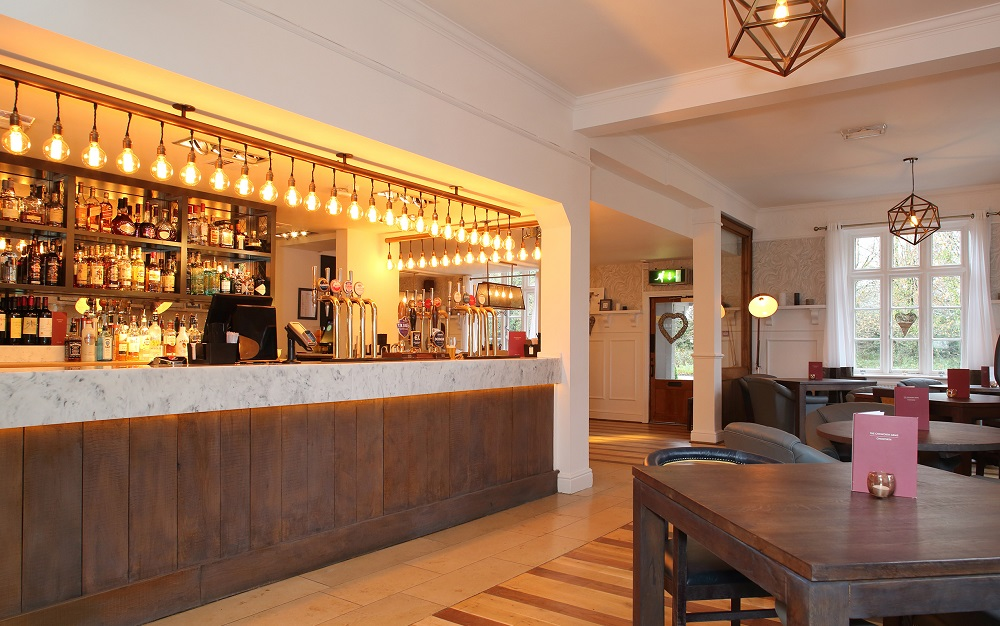 Versital bar top in Chilworth Arms, Southampton - Mitchells & Butlers