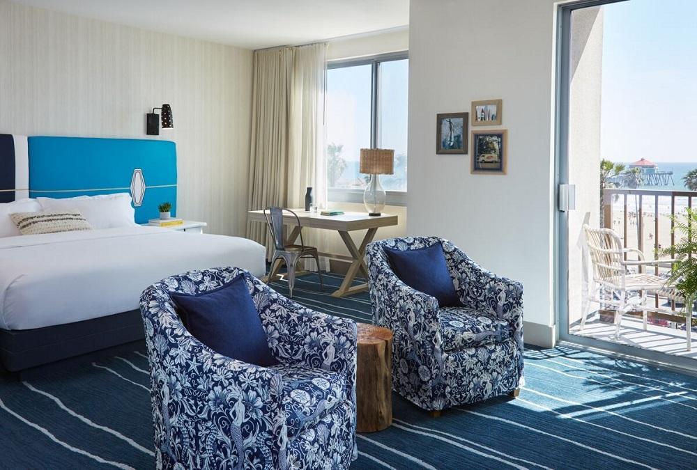 kimpton shorebreak hotel unveils new look opens pacific. Black Bedroom Furniture Sets. Home Design Ideas