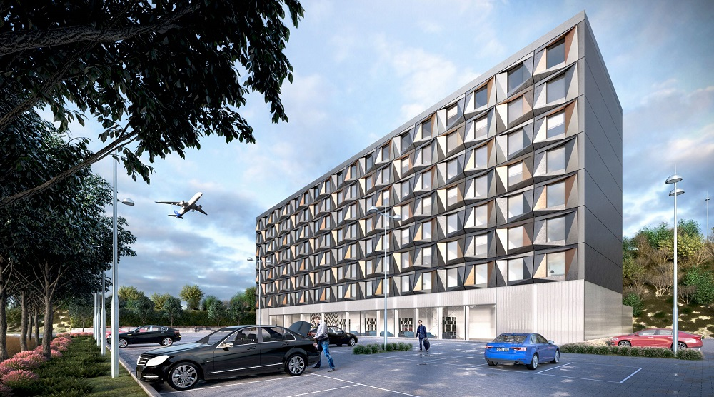Plans for luton airport hotel take flight hotel designs for Hotel exterior design