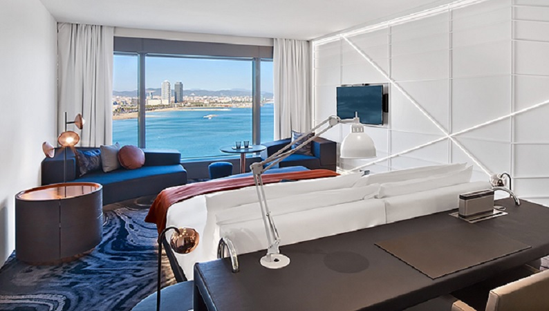 Iconic w barcelona completes multi million euro room for Hotel design barcelone