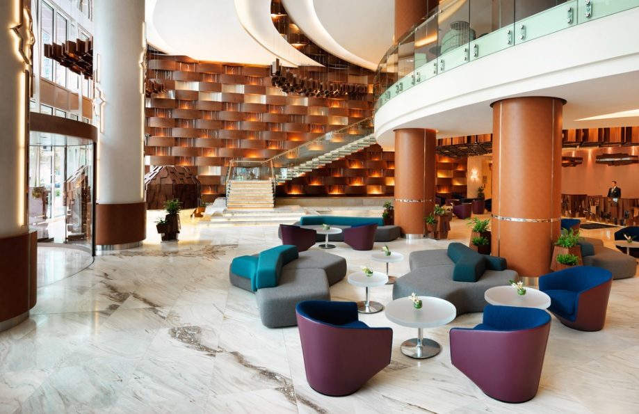 Brit list 2017 winner awarded for lobby work at baku for Design hotel awards