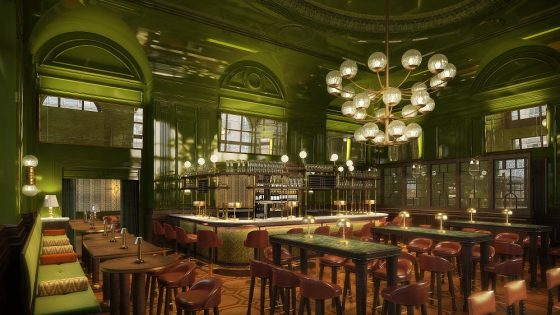The Wigmore at The Langham London - Dernier & Hamlyn's luxury lighting