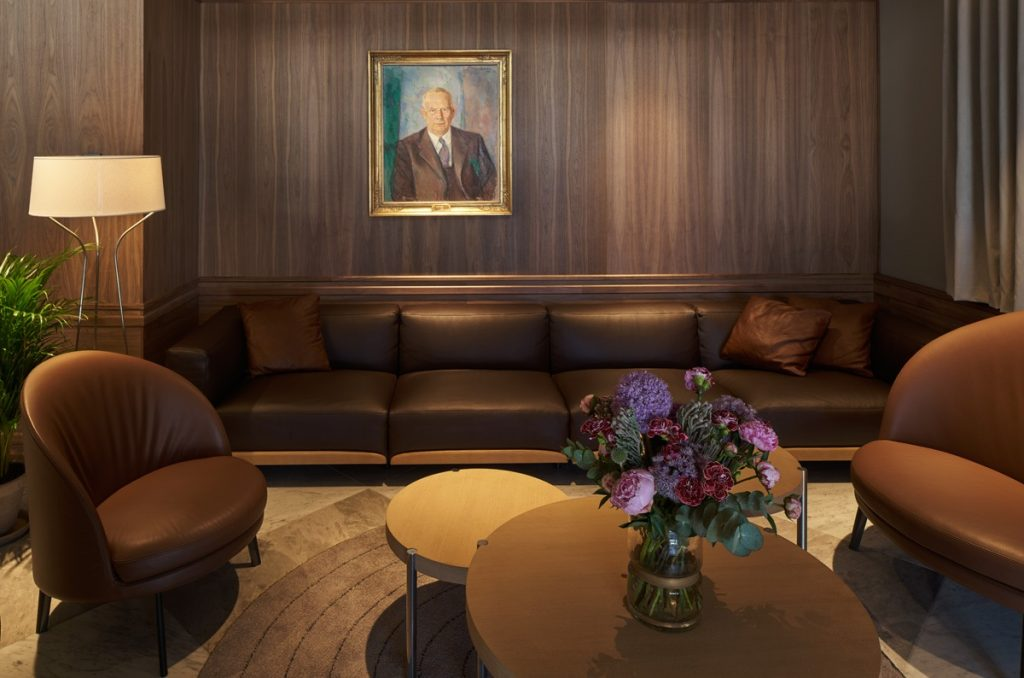The firm have recently completed work on Bergen Børs, their third hotel project for hyperlocal Norwegian hospitality group De Bergenske inside a year