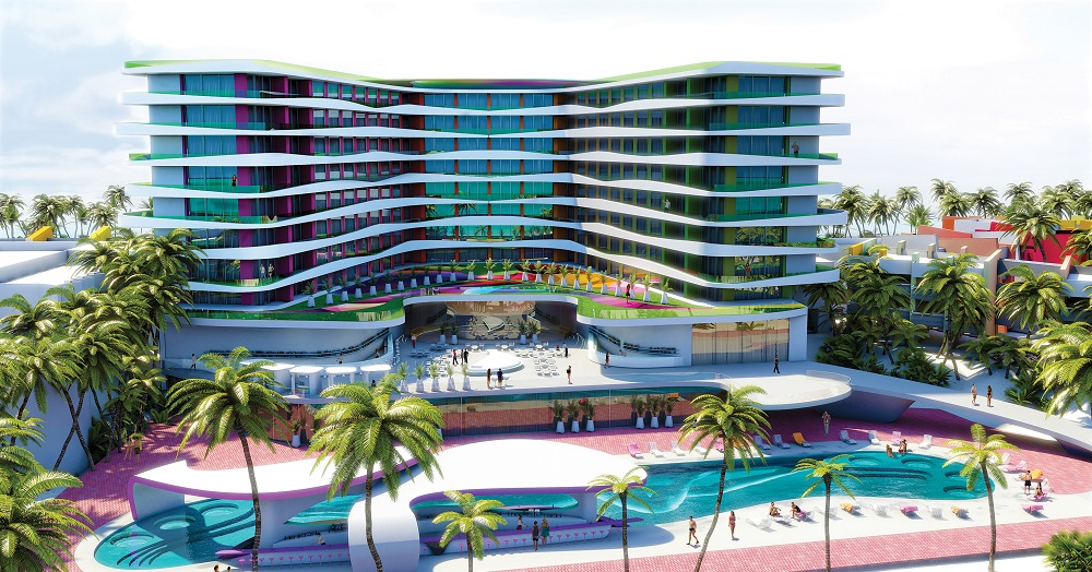 Temptation Cancun Resort - Pool Side Rendering
