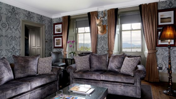 A refurbished suite at Cameron House