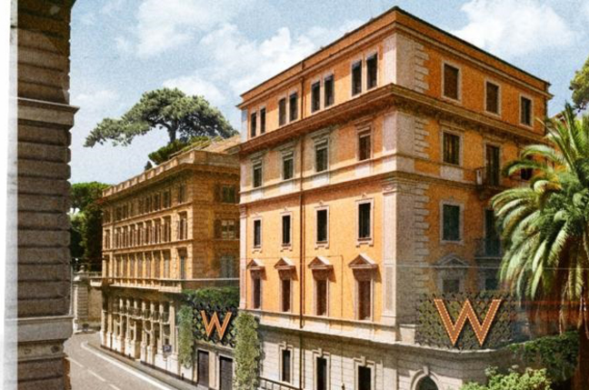 w hotels to debut in italy with w rome hotel hotel designs. Black Bedroom Furniture Sets. Home Design Ideas