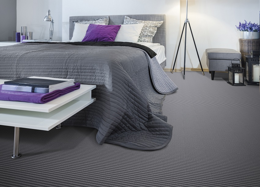 New England - Wilton Carpets - Bedroom interior with gray bed