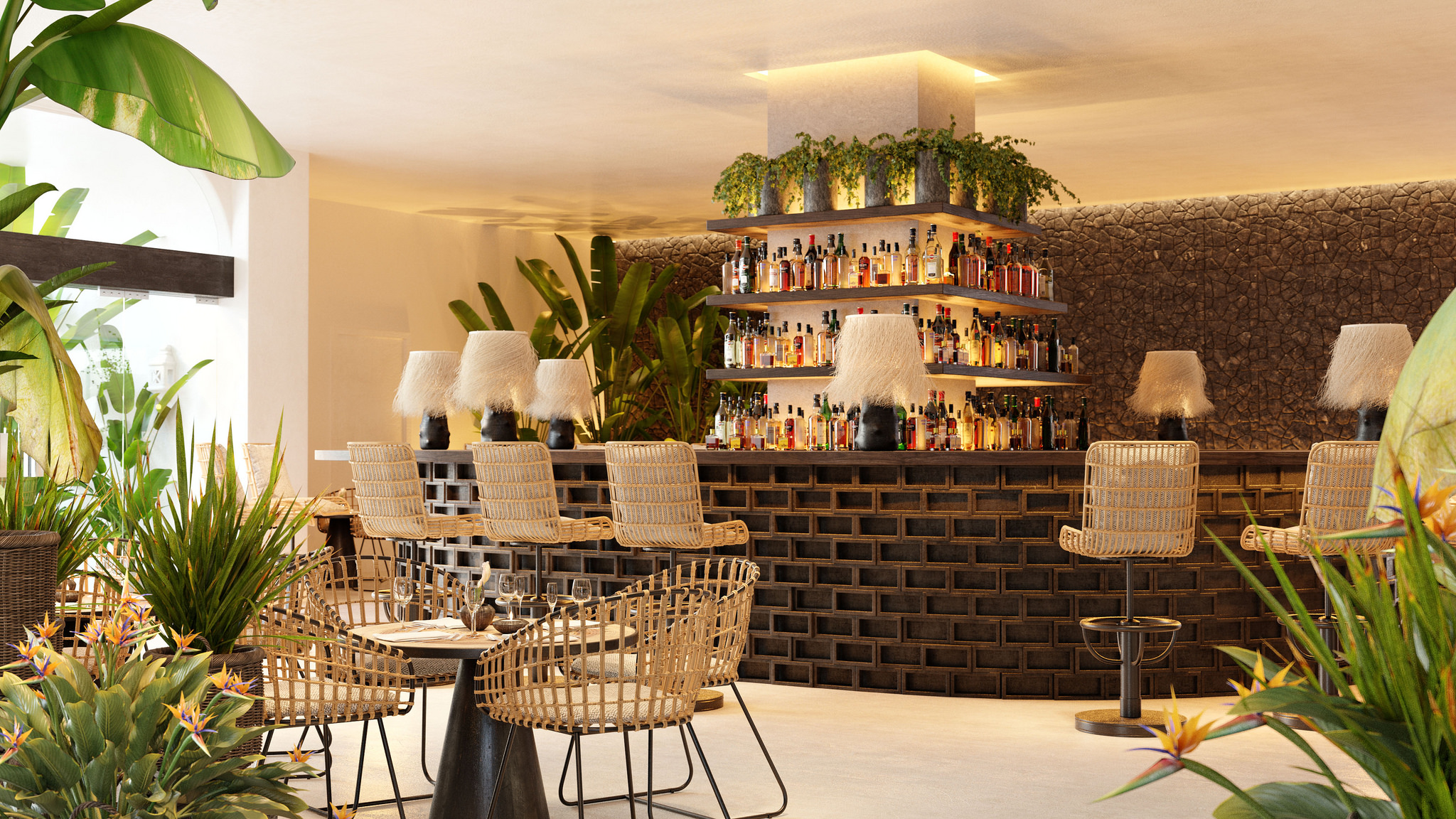 Hotel jard n tropical tenerife completes refurbishment for Bar jardin barcelona
