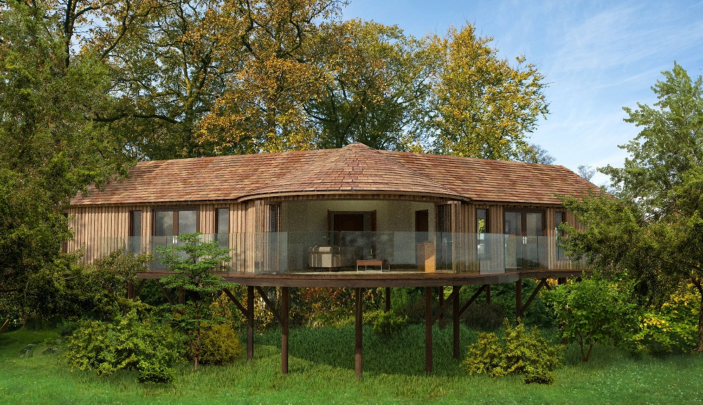 Ramside Hall Tree House Suite External View