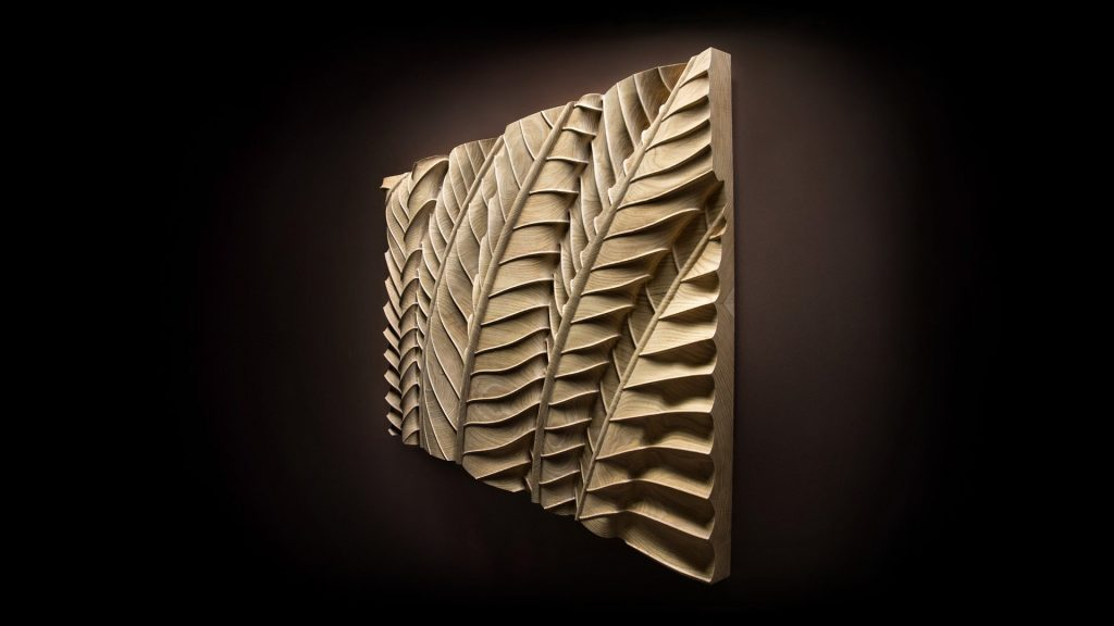 Beautifully crafted wooden art sculpture