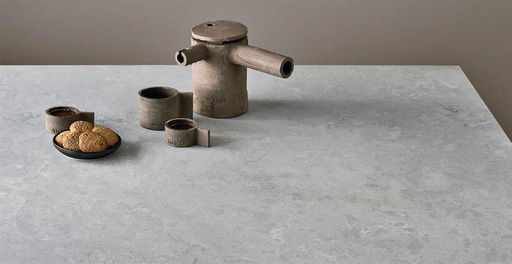 Authentic concrete-like finish