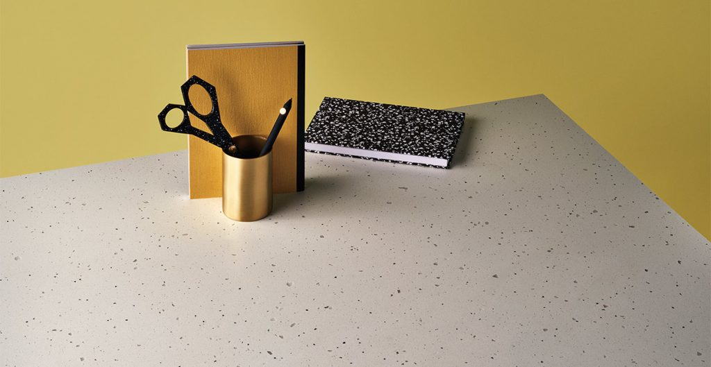 Surface with a concrete matt finish