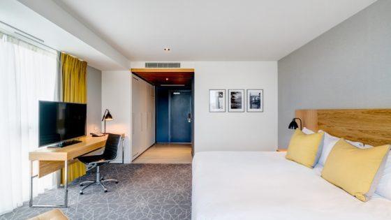 Light, airy room with a subtle colour scheme