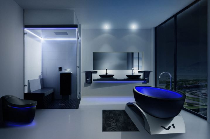 Futuristic bathroom