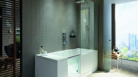 Duravit shower + bath in a modern bathroom