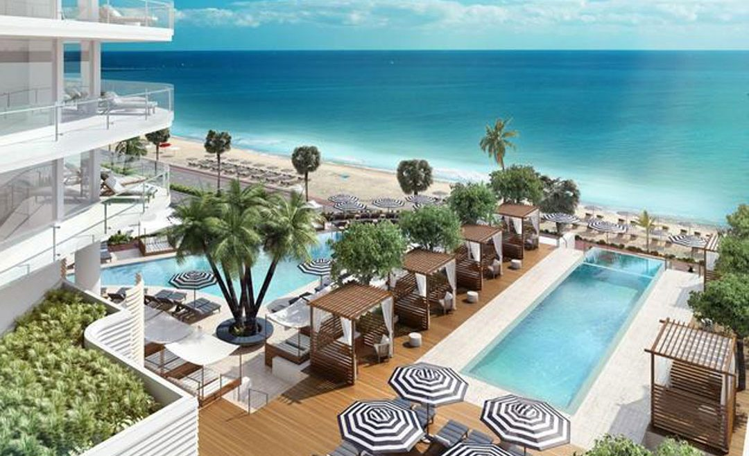 Fort partners and four seasons break ground at fort lauderdale site hotel designs for Interior design jobs fort lauderdale