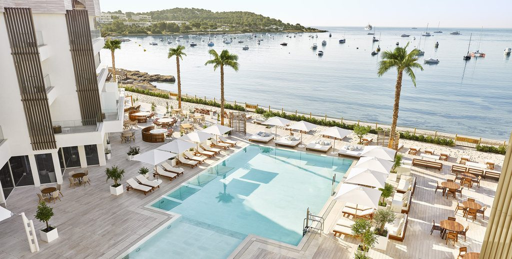 Pool area of Nobu Hotel Ibiza Bay