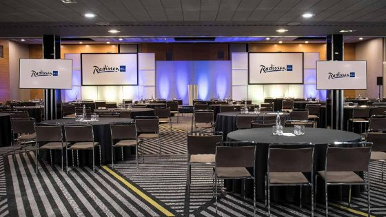Large meeting area at the hotel