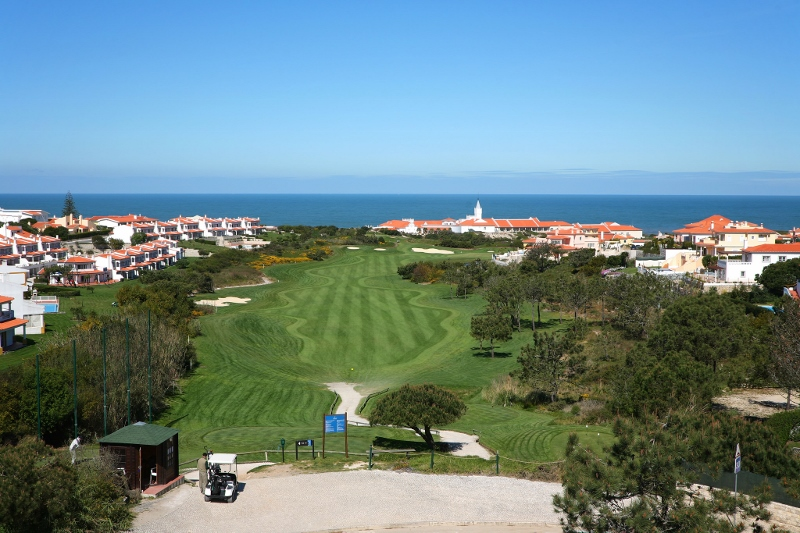 Golf course and exterior of hotel