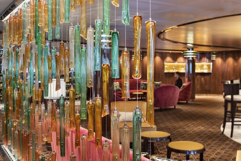 Interiors of Seabourn ship