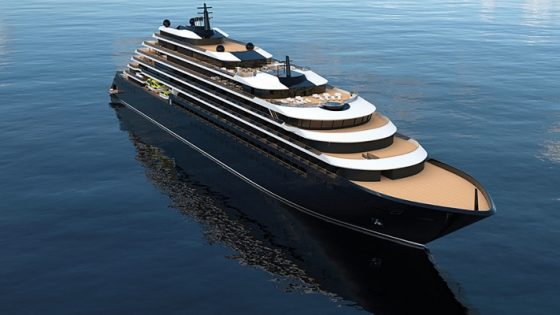 Rendering of the yacht